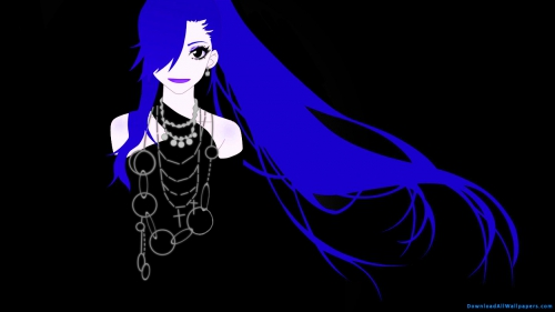 Blue Long Hair Anime Girl Anime Girl With Long Blue Hair Anime Girl With Blue Hair Anime Girl With Long Hair Anime Girl In Black Dress Anime Girl With Jewellery Blue Hair