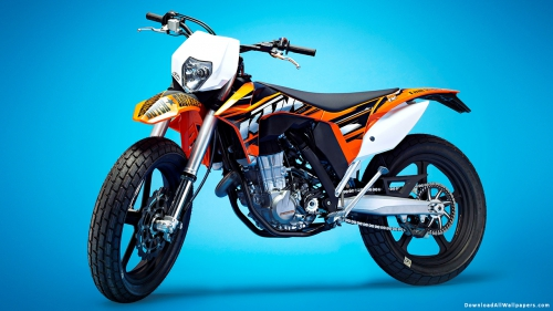 KTM 500 EXC Supermoto Bike,  KTM 500 EXC Supermoto,  KTM,  500 EXC,  Supermoto,  KTM Bikes,  KTM Sports Bike,  KTM Mountain Bike,  KTM Racing Bike,  Sports Bike,  Mountain Bike,  Racing Bike,  Bike,  Vehicle,  Transport,  Blue Background,  Gradient Background,  Bike Wallpapers,  Latest,  HD,  Wallpapers,  Download,  DAW154