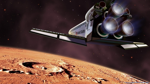 US Space Shuttle Approaching Mars,  US Space Shuttle,  US,  Space Shuttle,  Space Ship,  Shuttle,  Mars Surface,  Mars Planet,  Mars,  Surface,  Planet,  Planet Surface,  Closeup,  Stars,  Space,  Galaxy,  Solar System,  Universe,  Universe Wallpapers,  Space Wallpapers,  Latest,  HD,  Wallpapers,  Download,  DAW503